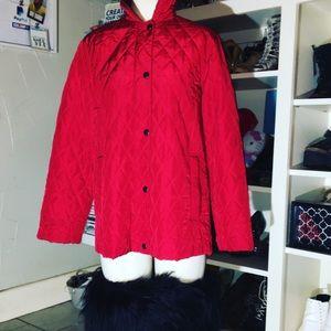 Max Mara Red Quilted Vintage Jacket